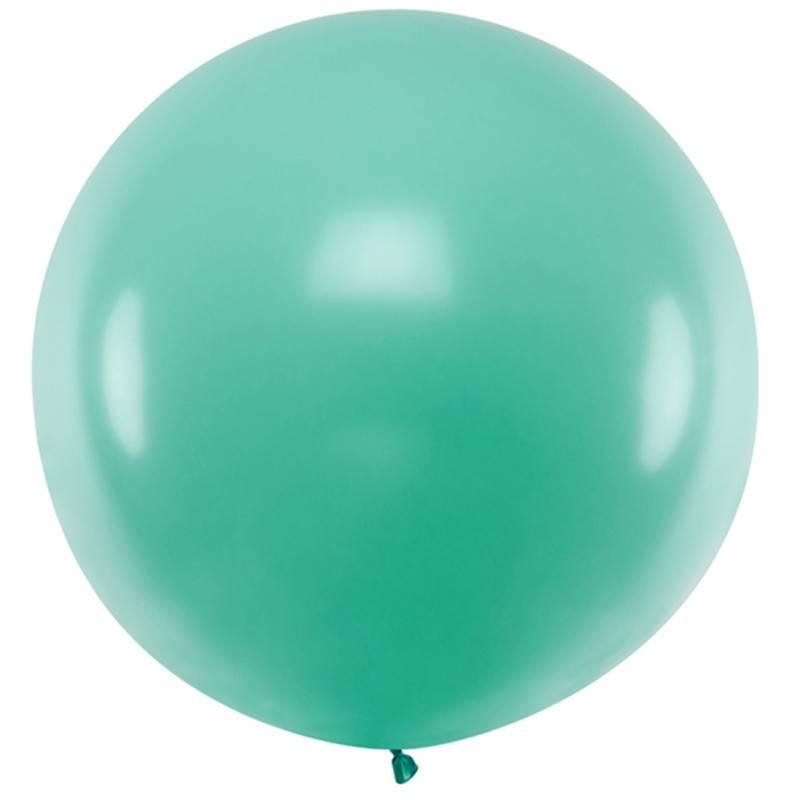 Stor ballon pastel skov grøn 1 m