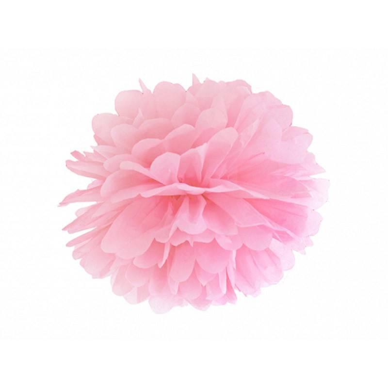 Lyserød Pom Pom. 25 cm