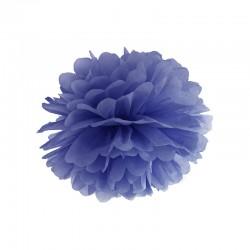 Blå Pom Pom. 25 cm