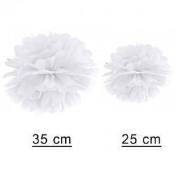 Bryllupspynt Hvid Pom Pom. 35 cm