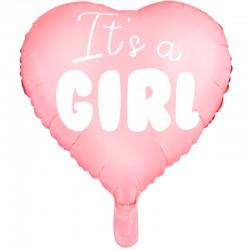 Lyserød Folieballon It´s a girl