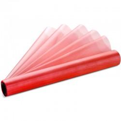 Rød organza bordløber. 36 cm x 9 m