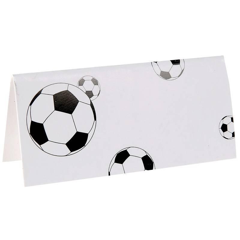 Glaskort med fodbolde. 10 stk. 7 x 3,3 cm