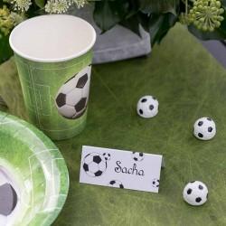 Glaskort med fodbolde til børnefødselsdag