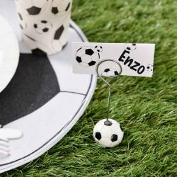 Glaskort med fodbolde til fødselsdag