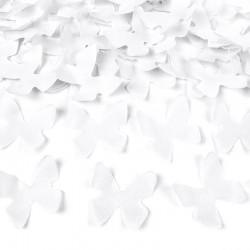 Hvide Sommerfugle. 40 cm Konfettirør
