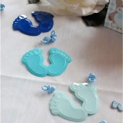 Konfetti lyseblå fødder til barnedåb
