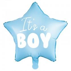 Lyseblå Stjerne Folieballon It´s a boy