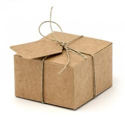 Brune rustikke gaveæsker. 10 stk