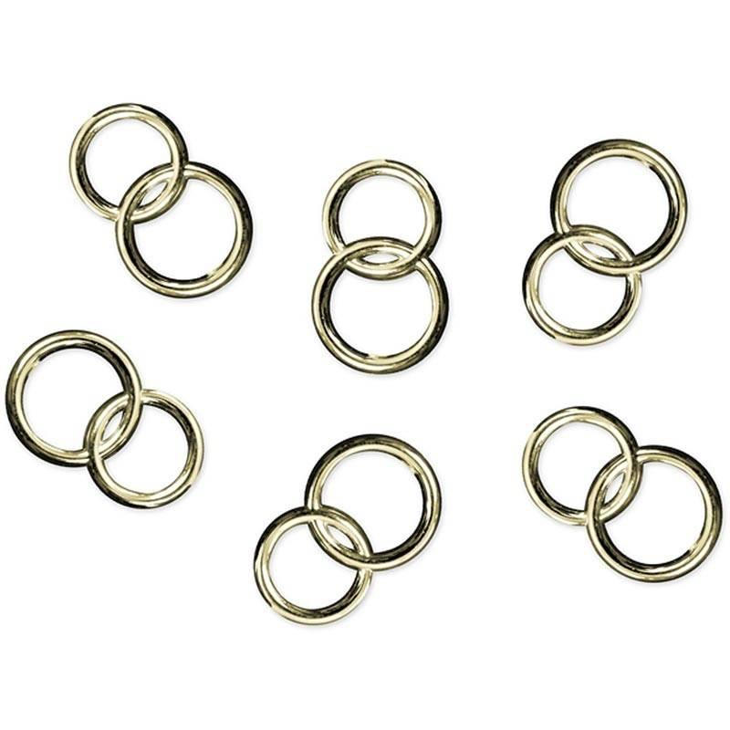 Konfetti dobbelte ringe guld 25 stk