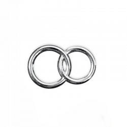 Konfetti dobbelte ringe sølv til bordkort