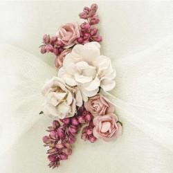 Lille ringpude røde blomster til bryllup