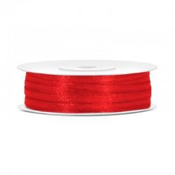 Rød Satinbånd 3 mm 50 m