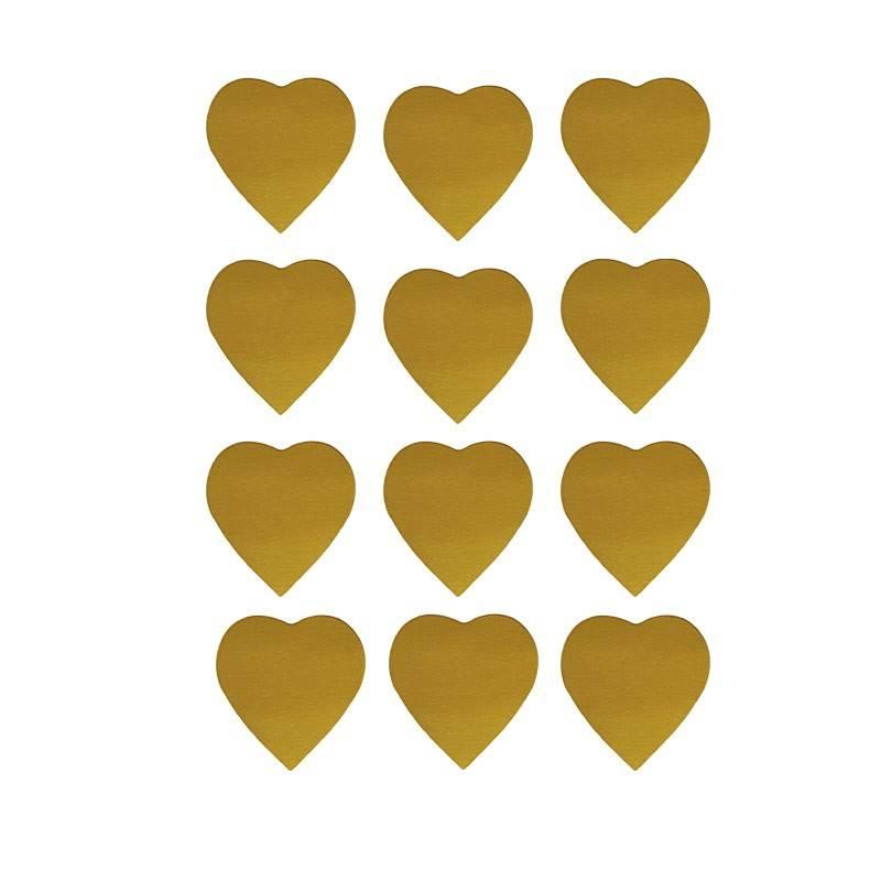Oblater guld hjerter 2,5 cm