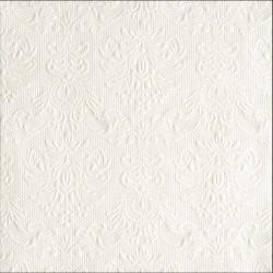 Hvid perlemor middagsserviet Elegance 40 x 40 cm, 15 stk