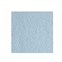 Støvet lyseblå kaffeserviet Elegance 25 x 25 cm, 15 stk
