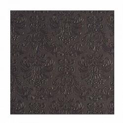 Koksgrå frokostserviet Elegance 33 x 33 cm, 15 stk