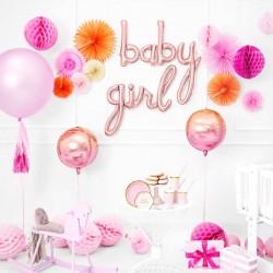 Lys pink Honeycomb 20 cm til barnedåb