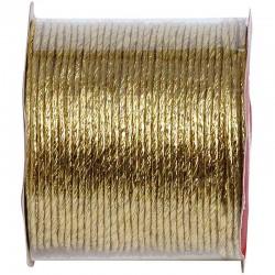 Guld metal papirtråd 2 mm x 20 m