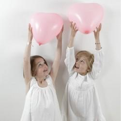 Barnedåb Lyserøde hjerte balloner