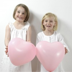 Lyserøde hjerte balloner til bryllup