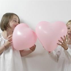 Festartikler Lyserøde hjerte balloner