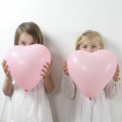 Lyserøde hjerte balloner til fødselsdag