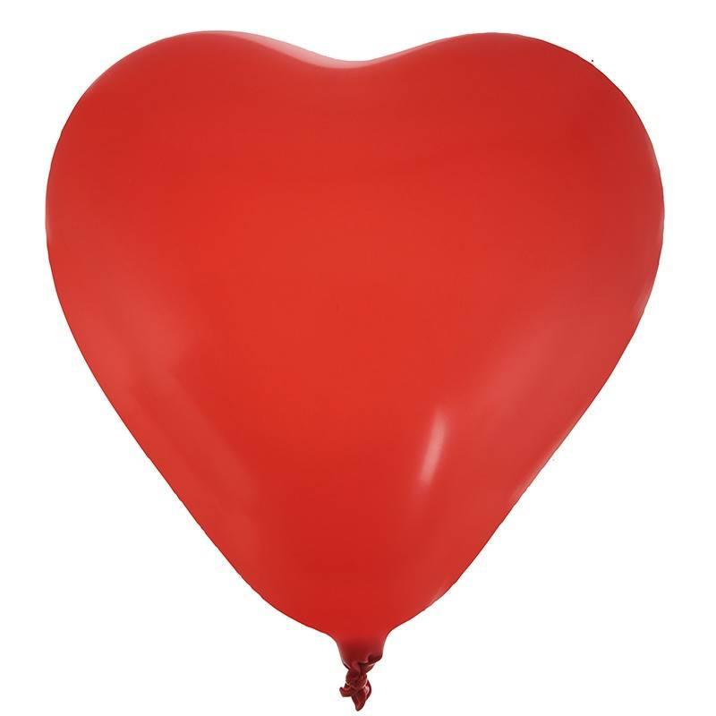 Røde hjerte balloner 8 stk