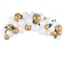 Ballon guirlande hvid og guld