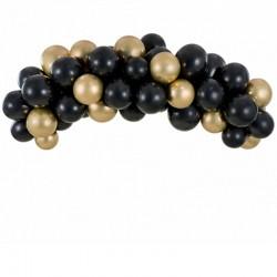 Ballon guirlande sort og guld
