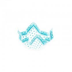 Luksus plastik skål lyseblå 13 cm