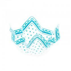 Luksus plastik skål lyseblå 22,5 cm