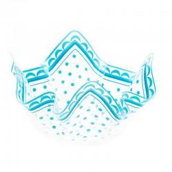 Luksus plastik skål lyseblå 26 cm