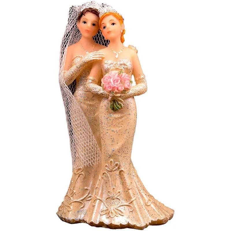 Bryllupsfigur 2 kvinder. 10 cm