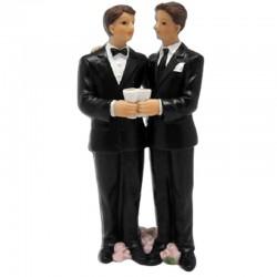 Brudepar topfigur 2 mænd