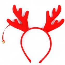 Rød rensdyr hårbøjle med bjælde