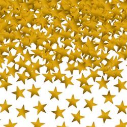 Guld stjerne konfetti 10 mm. 30 gram