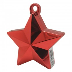 Rød stjerne ballonvægt 140 g