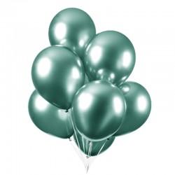 Chrome balloner grøn, 10 stk. 30 cm.
