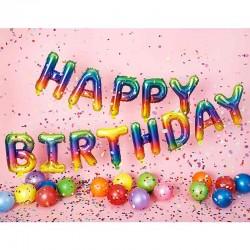 Happy Birthday Folieballon regnbue til fødselsdag