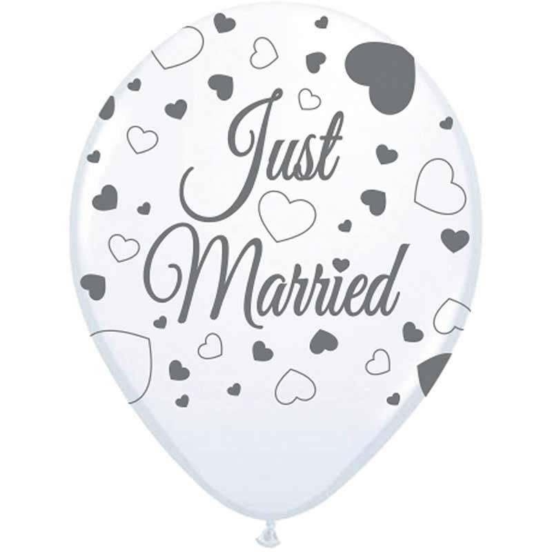 Balloner Just Married 8 Stk