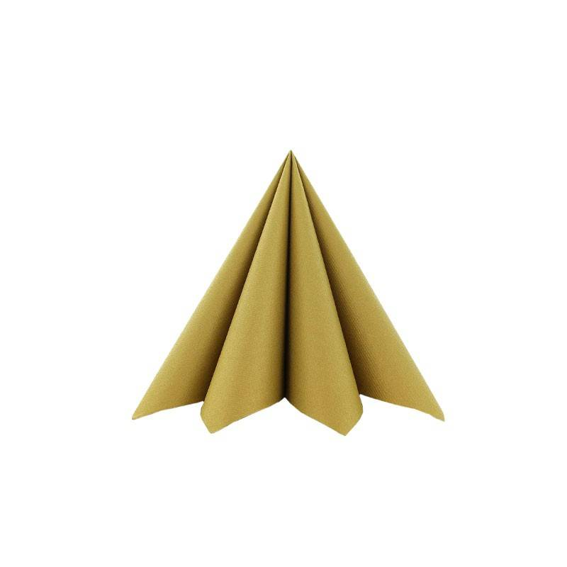 Airlaid Tekstilservietter Guld 25 x 25 cm - 100 stk