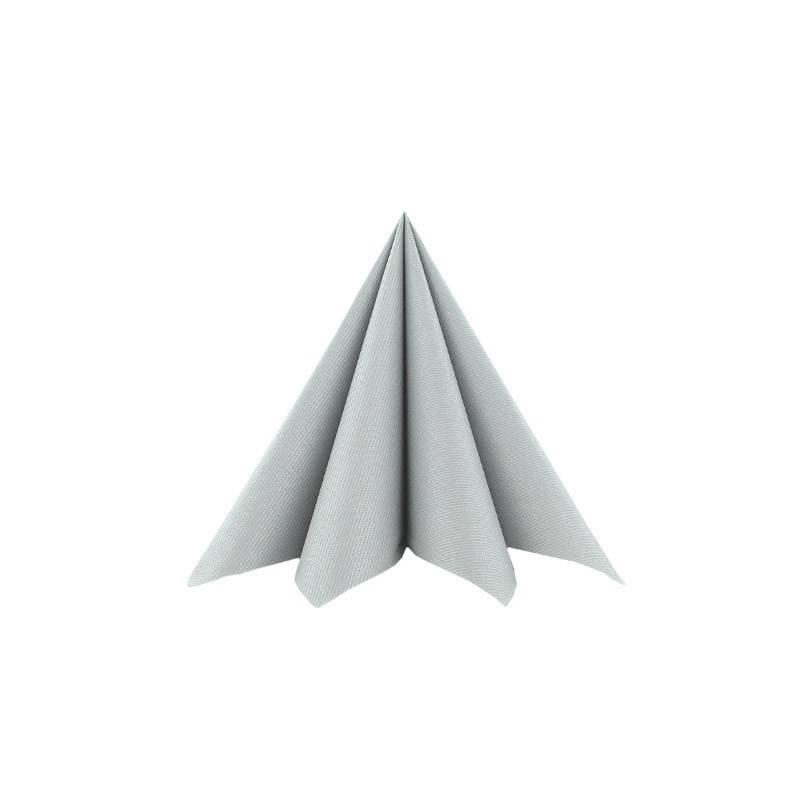 Airlaid-Tekstilservietter Sølv 25 x 25 cm - 100 stk