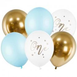 Ballon sæt One Pastel Lyseblå. 6 stk