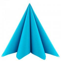 Airlaid Tekstilservietter turkisblå 40 x 40 cm. 50 stk.