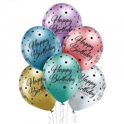 Ballon Sæt Happy Birthday. 6 stk