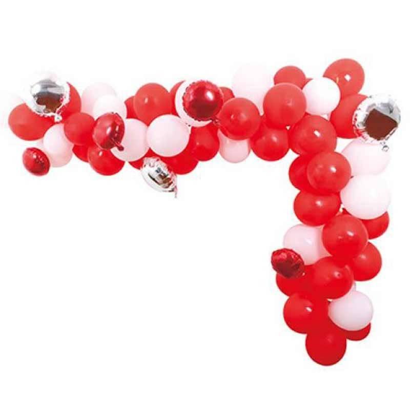 Ballon guirlande Rød. 4 m