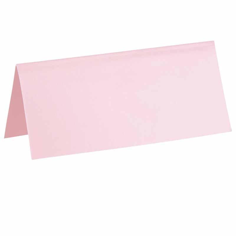 Bordkort lyserød. 10 Stk.