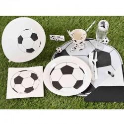 Fodboldfest dækkeservietter fodbold