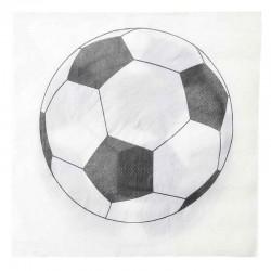 Servietter fodbold. 20 Stk